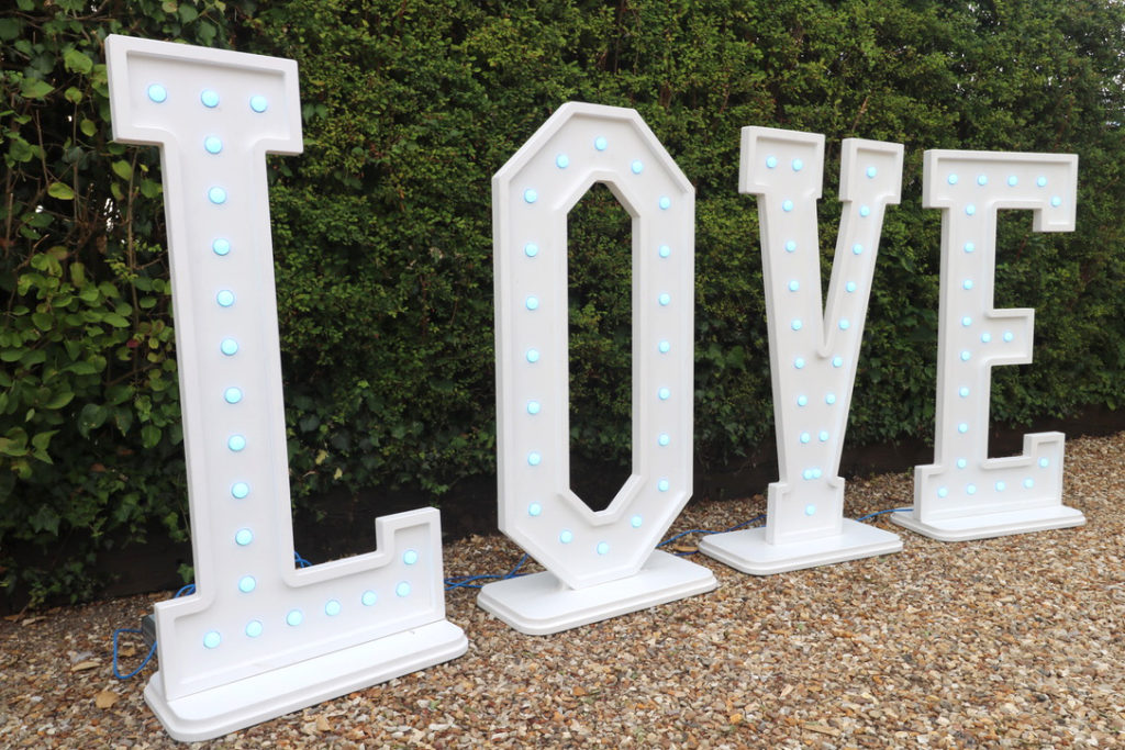Sweet Mix Carts Lincolnshire - wedding Love letters for hire