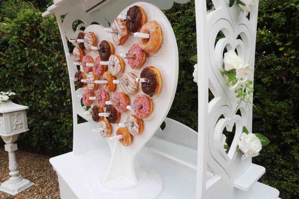 sweetmixcarts wedding hire - doughnut wall wedding