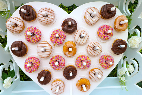 sweetmixcarts wedding hire doughnut wall wedding