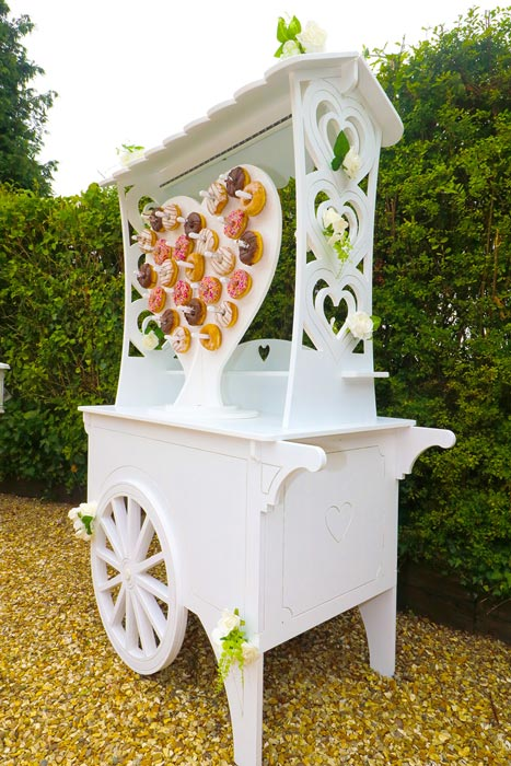 sweetmixcarts - sweet cart doughtnut wall wedding